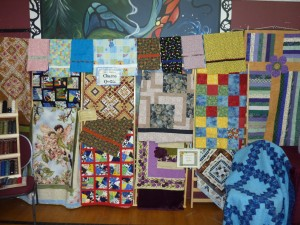 Donated quilts for the Chemo Unit at the Dawson Creek Hospital