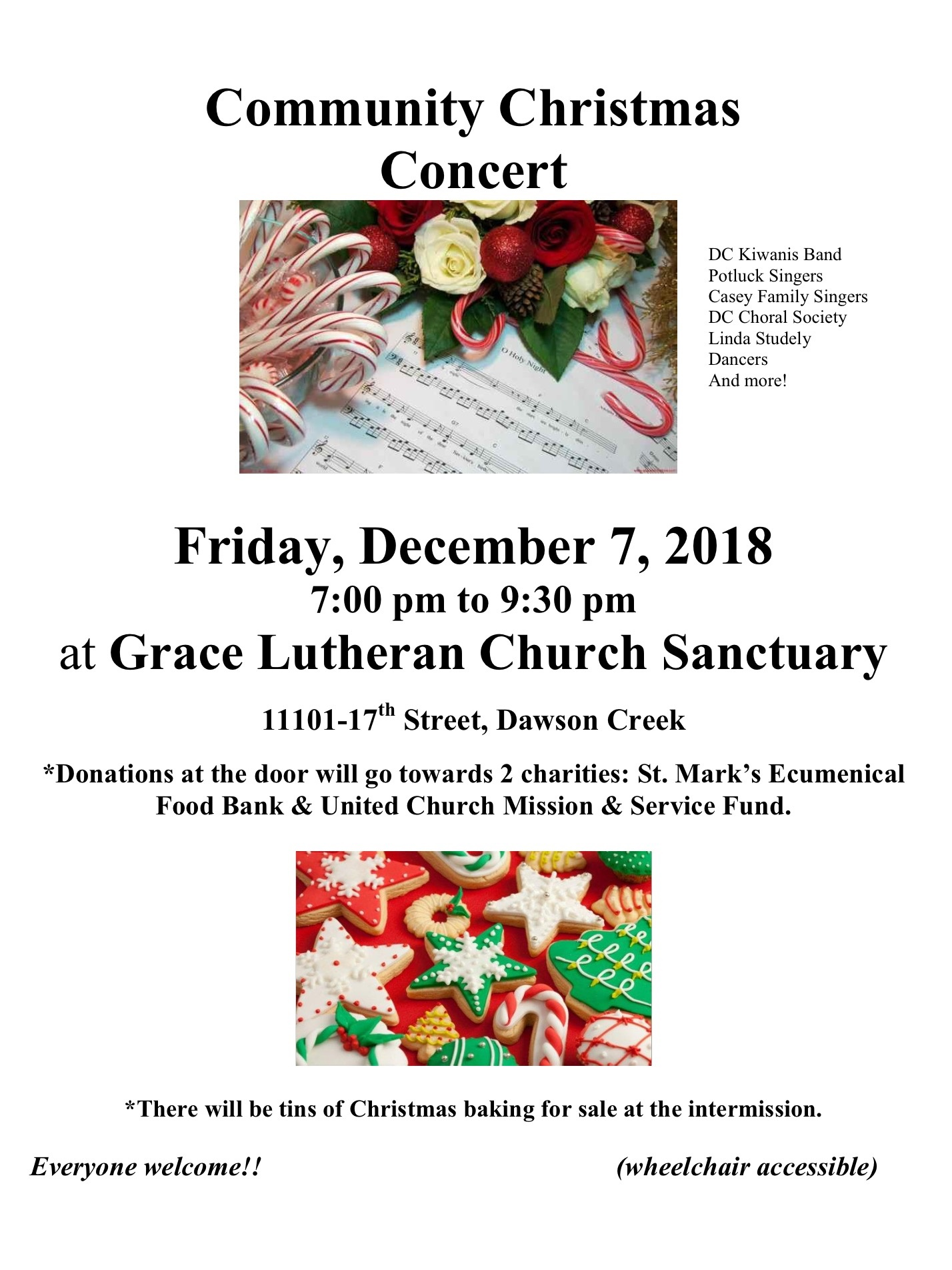 kiwanis band's annual community christmas concert december 7th